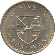 5 pesewas – revers
