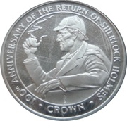 ½ Crown - Elizabeth II (Holmes smoking pipe) – revers