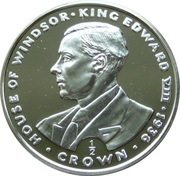 ½  crown Elizabeth II (2ème effigie) King Edward VIII – revers