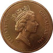 1 penny Elizabeth II (3ème effigie) – avers
