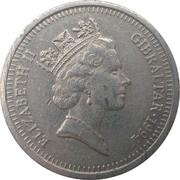 10 pence Elizabeth II (3ème effigie, petit module) – avers