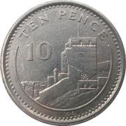 10 pence Elizabeth II (3ème effigie, petit module) – revers
