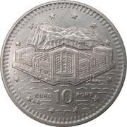 10 pence Elizabeth II (3ème effigie, 2ème type) – revers