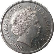 10 pence Elizabeth II (4ème effigie, 2ème type) – avers