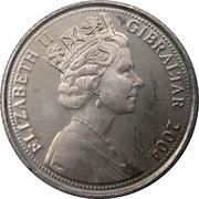 10 pence Elizabeth II (Tricentenaire de l'occupation britannique) – avers
