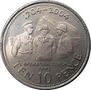 10 pence Elizabeth II (Tricentenaire de l'occupation britannique) – revers