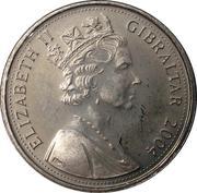 5 pence - Elizabeth II (Occupation britannique) – avers