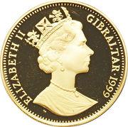 1/2 Crown - Elizabeth II (Reine Elizabeth I) – avers