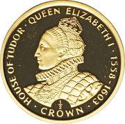 1/2 Crown - Elizabeth II (Reine Elizabeth I) – revers