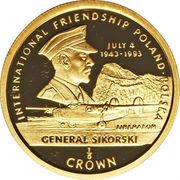 1/5 Crown - Elizabeth II (Général Sikorski) – revers