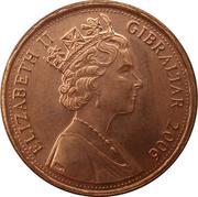 1 penny  Elizabeth II (3e effigie, 1er type) – avers