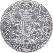 100 Pounds - Elizabeth II, 2 Oz Silver Piedfort -  revers