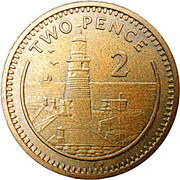 2 pence Elizabeth II (3ème effigie) – revers