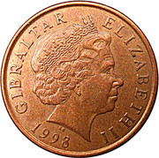 2 pence Elizabeth II (4ème effigie) – avers