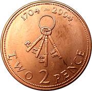 2 pence Elizabeth II (Tricentenaire de l'occupation britannique) – revers