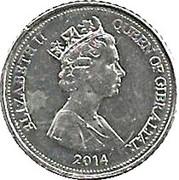 5 Pence Elizabeth II (3e effigie, fleur) -  avers