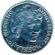 1 crown Princesse Diana -  revers