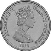 10 pence Elizabeth II (3e effigie, Perdrix) -  avers