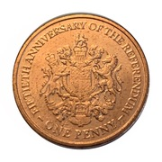 1 Penny - Elizabeth II (Referendum Anniversary) – revers
