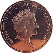 2 pence Elizabeth II (New Calpe House) – avers
