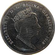 5 pence Elizabeth II (New Calpe House) – avers