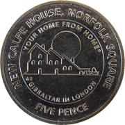 5 pence Elizabeth II (New Calpe House) – revers