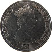10 pence Elizabeth II (3e effigie) -  avers