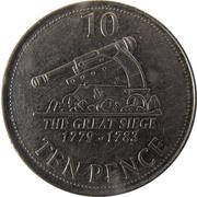10 pence Elizabeth II (3e effigie) -  revers