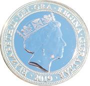2 Pounds - Elizabeth II (Breast Cancer Support Gibraltar) S -  avers