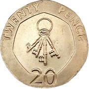 20 pence Elizabeth II (3e effigie, date sous le portrait) -  revers
