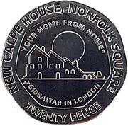 20 pence Elizabeth II (New Calpe House) -  revers
