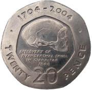 20 pence (Tricentenaire de la prise de Gibraltar) -  revers