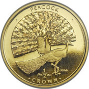 ½ crown Peacock – revers
