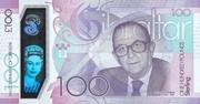 100 pounds commemorative note – revers