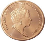 1 penny - Elizabeth II (Jeux de l'île 2019) – avers