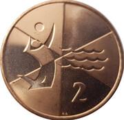 2 pence - Elizabeth II (Jeux de l'île 2019) – revers