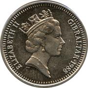 5 pence Elizabeth II (3ème effigie, grand module) – avers