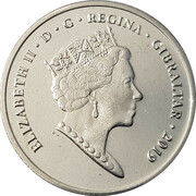 5 pence - Elizabeth II (Jeux de l'île 2019) – avers