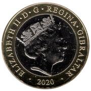 2 Pounds - Elizabeth II (Christmas) -  avers