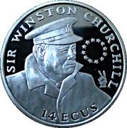 14 ECUS - Elizabeth II (Sir Winston Churchill; Piedfort) -  revers