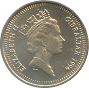 5 pence Elizabeth II (3ème effigie, petit module) -  avers