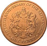 1 penny Elizabeth II (Anniversaire du référendum) – revers
