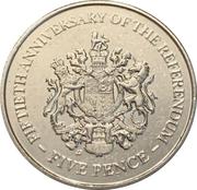 5 pence (Anniversaire du referendum) – revers