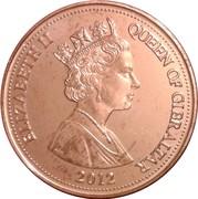 2 pence Elizabeth II (3ème effigie, date en bas) – avers