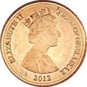 1 penny Elizabeth II (3e effigie, 3e type) – avers