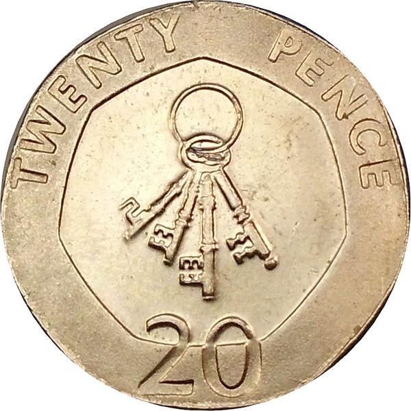 20 Pence Elizabeth Ii 3e Effigie Date Sous Le Portrait