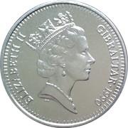 10 pence Elizabeth II (3ème effigie, grand module) – avers