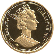 1/25 Crown - Elizabeth II (3rd portrait; Ancient_Egypt) – avers