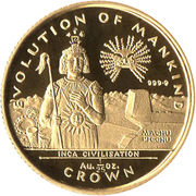 1/25 Crown - Elizabeth II (Inca Civilisation) – revers