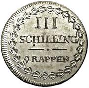 3 schilling / 9 rappen – revers
